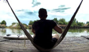 On a Hammock at Swimming Lake Restaurant in Battambang, Cambodia /// Vinjatek