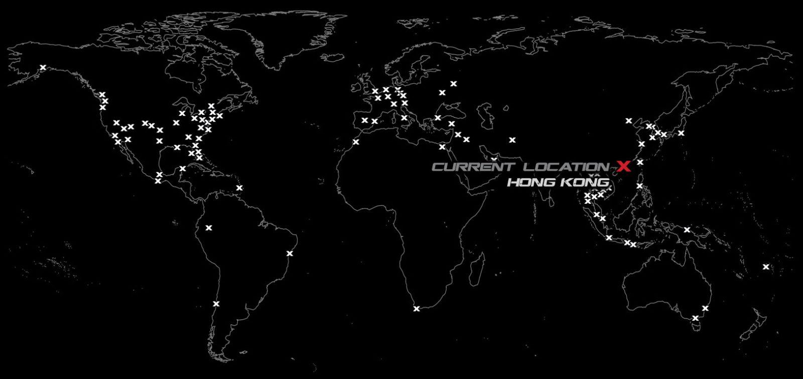 Vagabonding Destinations Map // Hong Kong /// Vinjabond