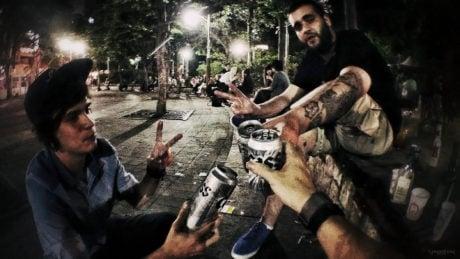 Partying at The Hongdae Playground Park in Seoul, Korea /// Vinjatek
