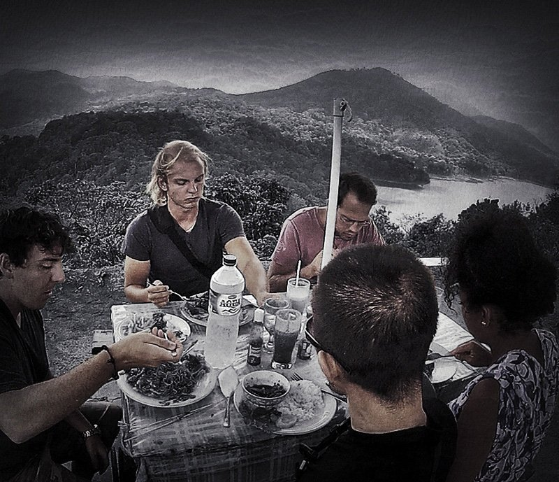 Lunch on a Mountain in Bali, Indonesia // VINJABOND