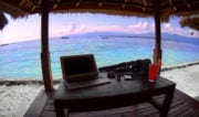 Digital Nomad Office on Gili Meno Island, Indonesia /// Vinjatek