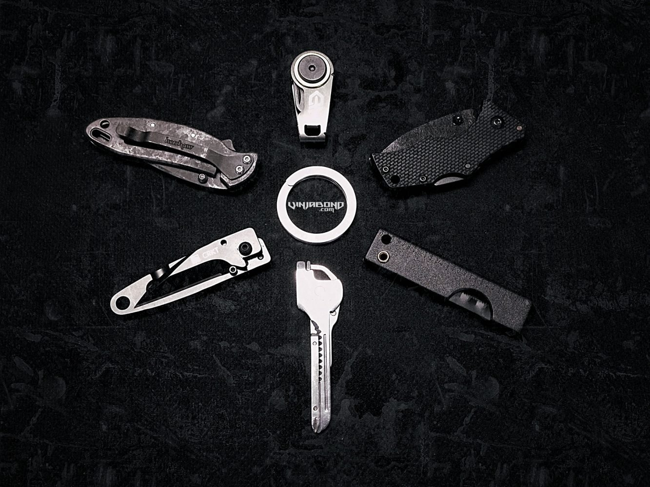 6 Keychain EDC Knives For Travel  // Vinjatek