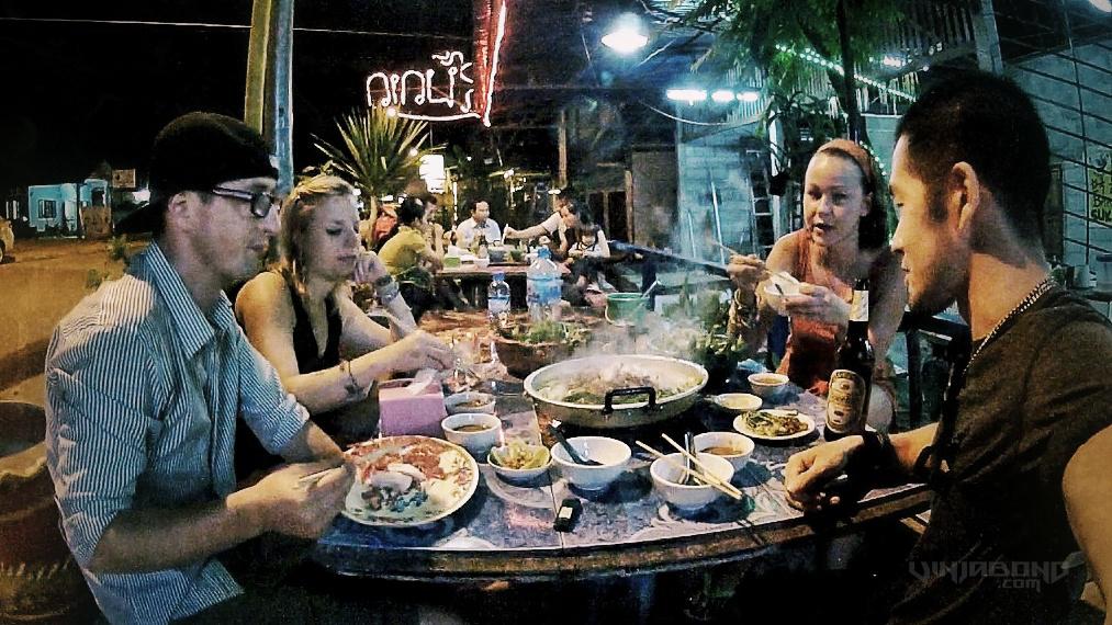 - Asian BBQ Dinner at Vang Vieng, Laos -