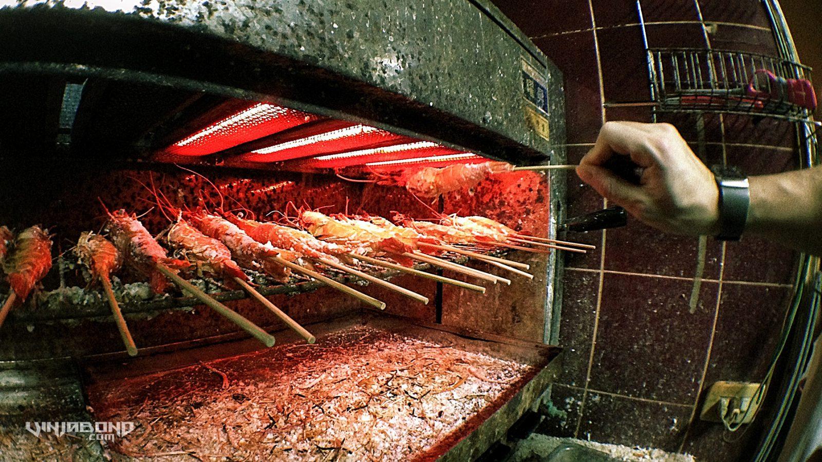 - Live Shrimp Baked After Fishing -