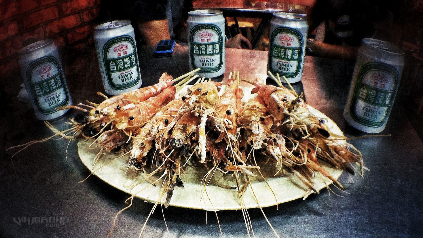 - Our Shrimp Ready to Eat w/ Taiwan Beer -