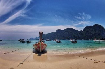 The Koh Phi Phi Docking Beach in Thailand