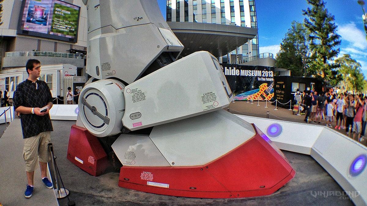 - The Giant Gundam Robot's Foot -