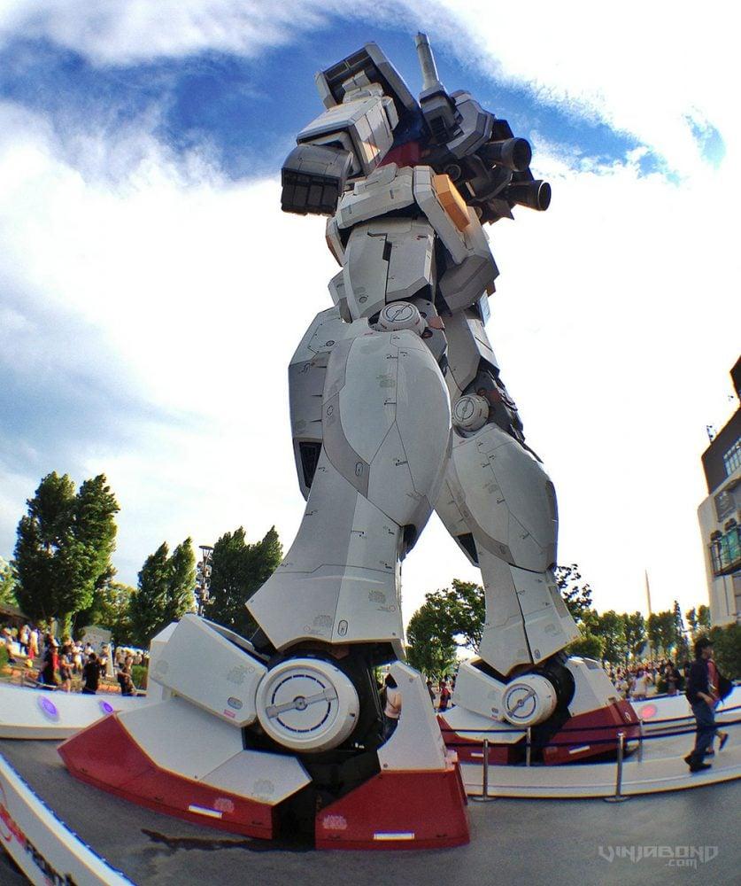 - Life Size Gundam Robot Statue Rear -