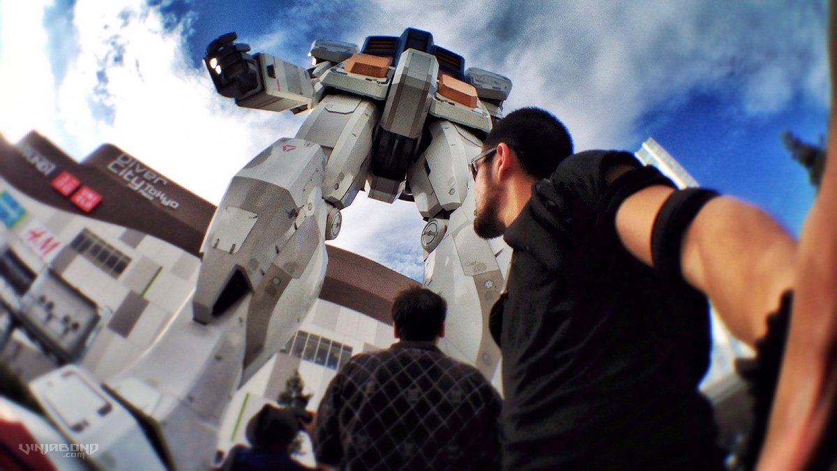 Life-Size Gundam Robot in Tokyo /// VINJABOND