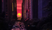 Manhattanhenge Sunset Over Manhattan /// Vinjatek
