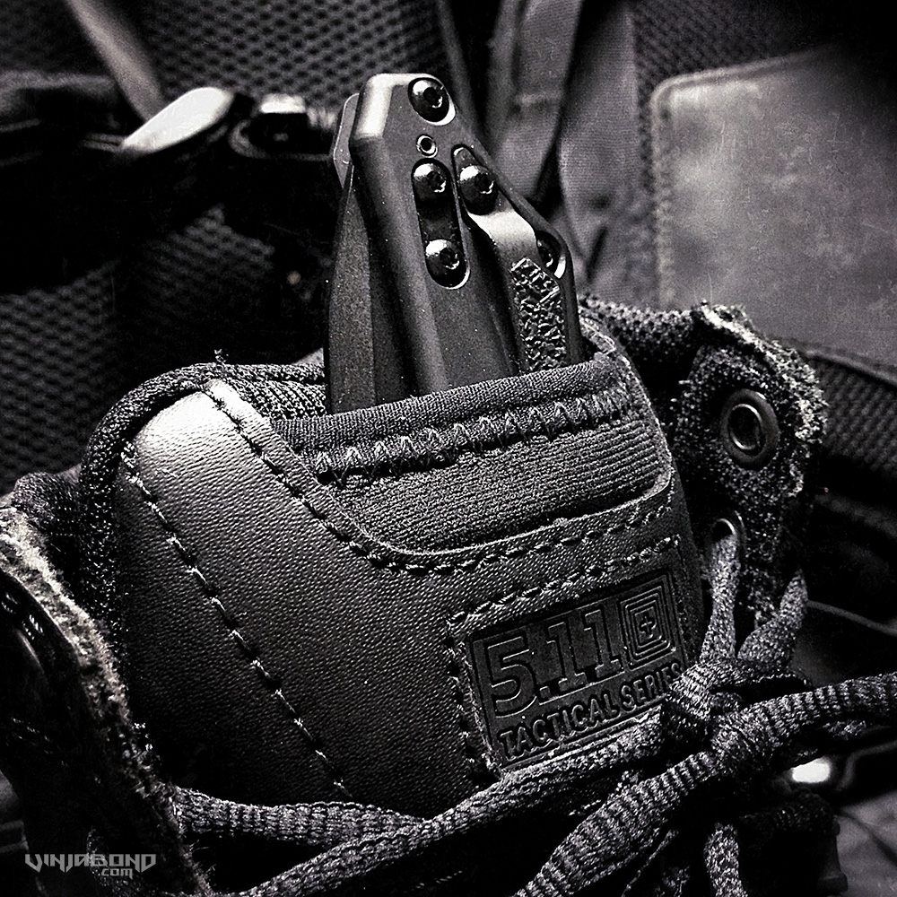 - Taclite Side Zip Boot Tongue as a Knife Holster -