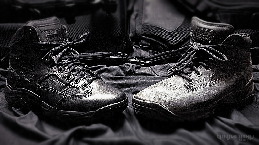 - TACLITE (Left) and ATAC (Right) Boots by 511 Tactical -