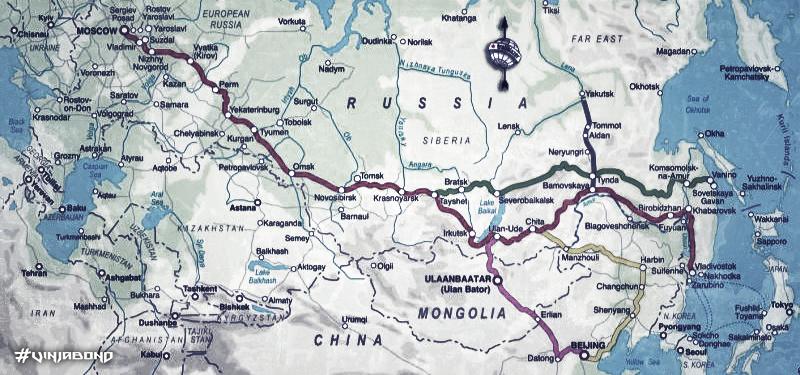 - Trans-Siberian Railway Route Map -