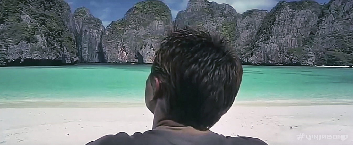 - CGI Altered Beach in The Movie 'The Beach' -