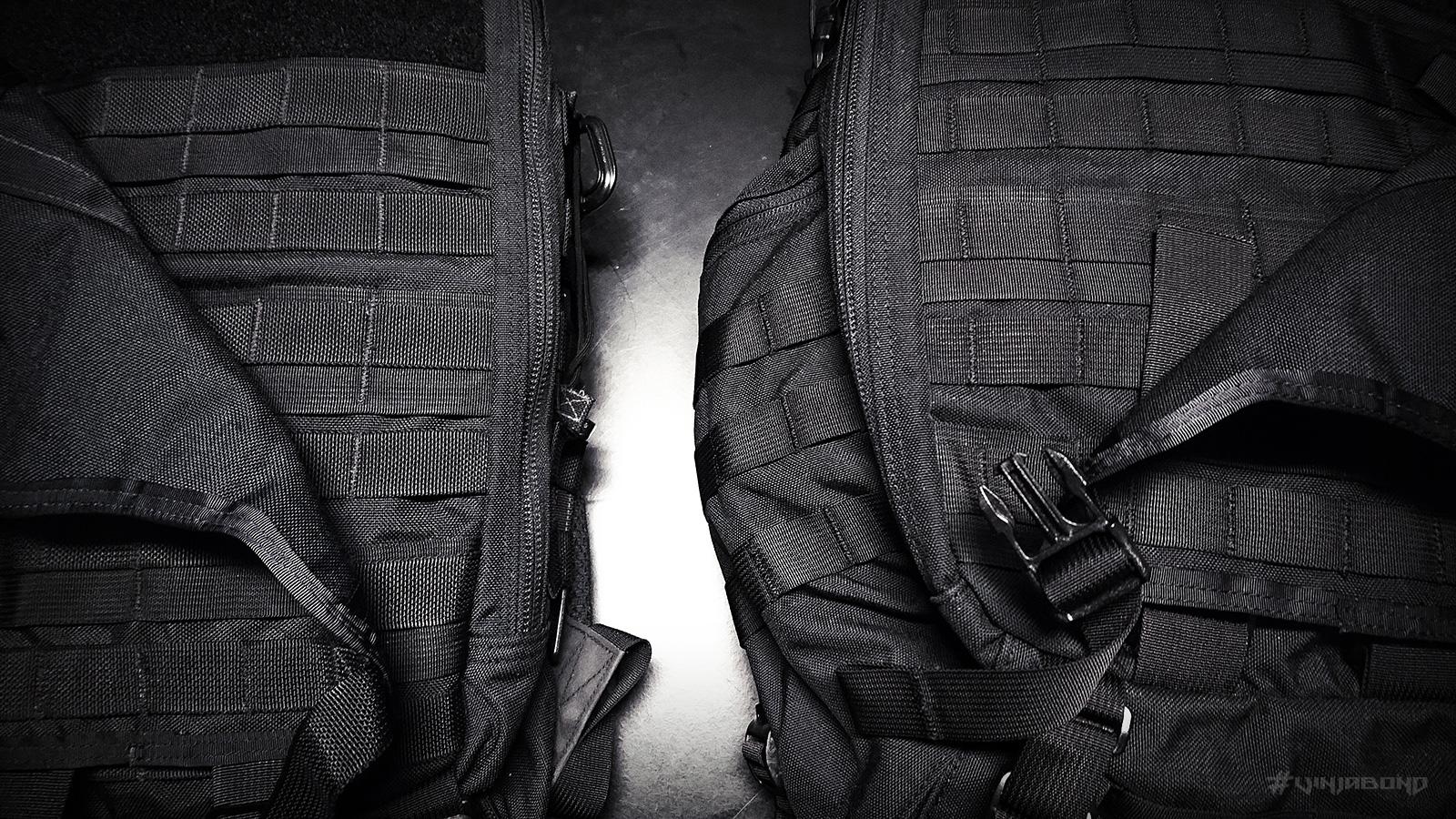 - FAST Pack Litespeed (L) vs. EDC Backpack (R) -