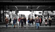 9-to-5'ers Crossing the Street in Berlin, Germany /// Vinjatek