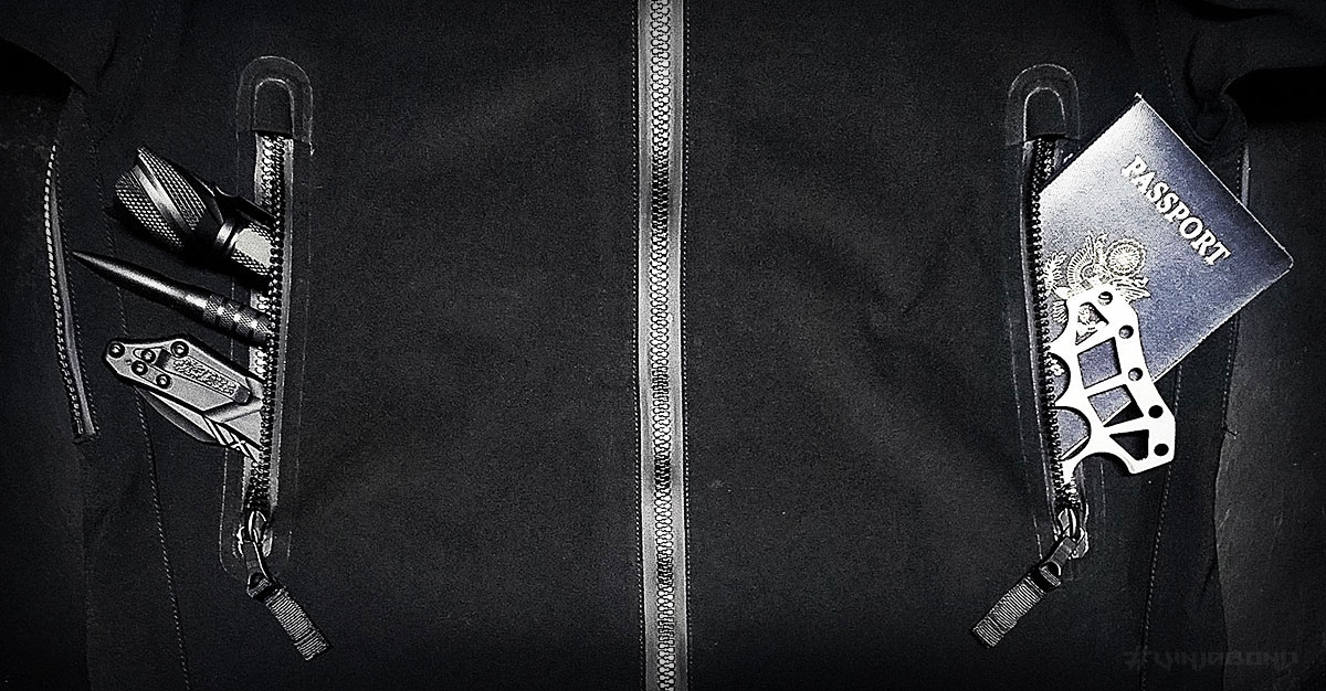 Stealth Hoodie LT // Chest Pockets