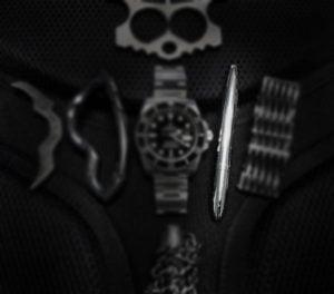 Black Tie Event EDC Kit: White Gold Space Pen /// Vinjabond