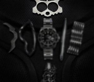 Black Tie Event EDC Kit: Raidops Angry Ceasar Knucks /// Vinjabond