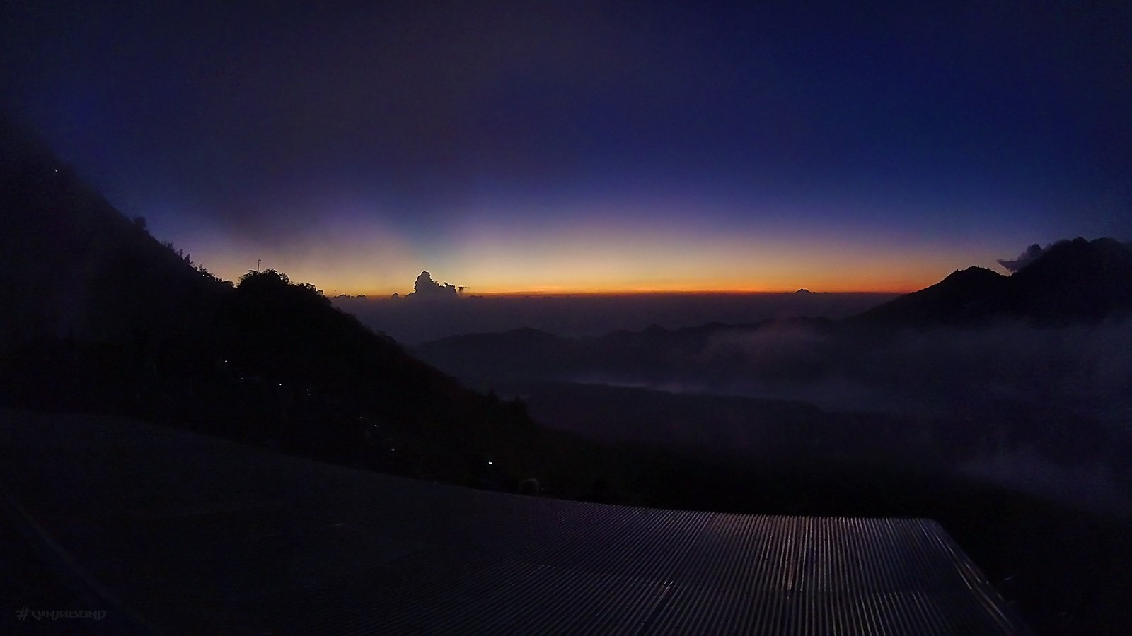 Peak of Mount Bature, Seconds Before Sunrise /// Vinjabond