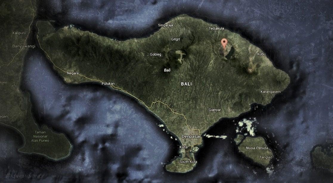 Mount Batur Map /// Vinjabond