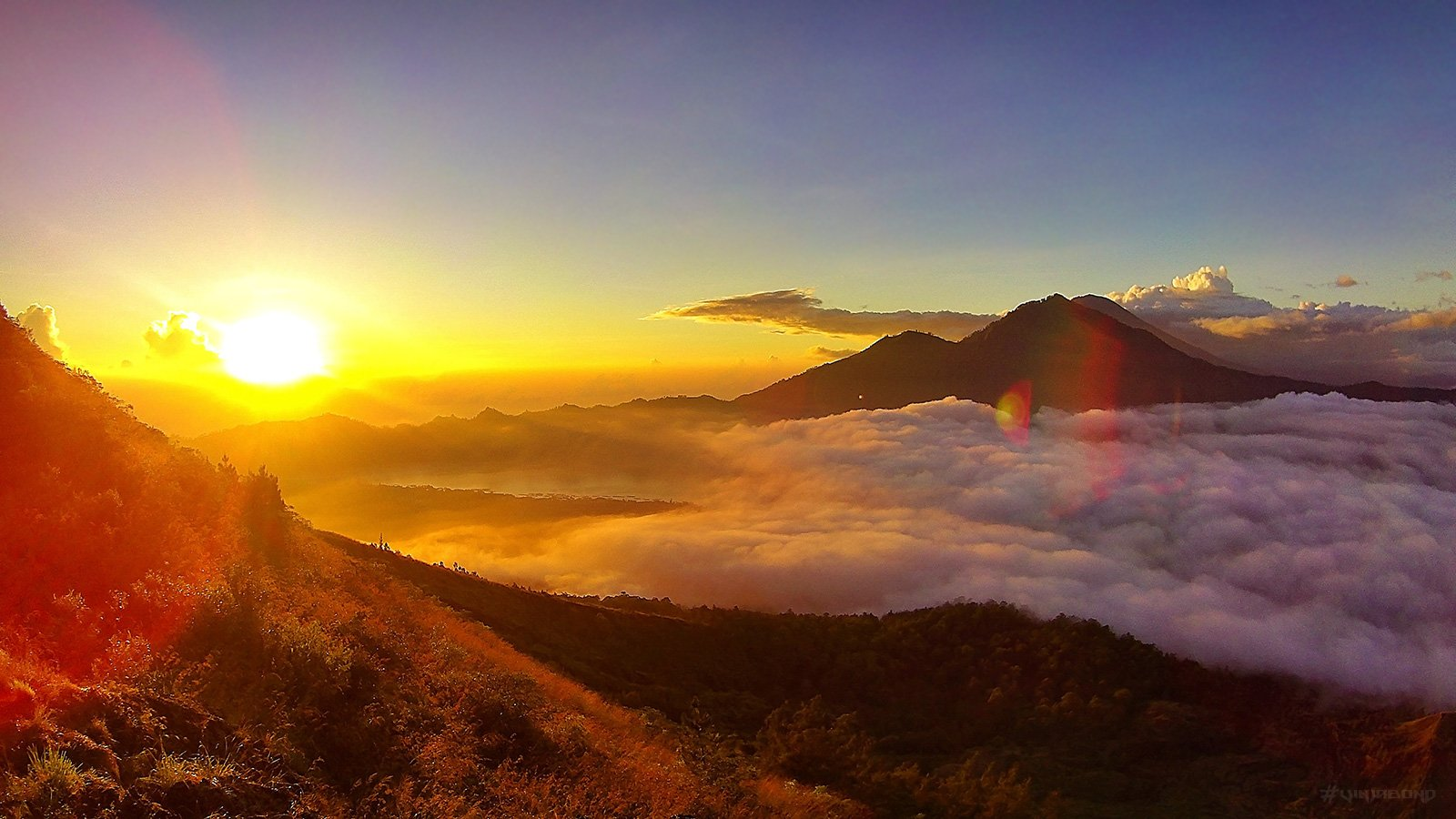 Mount Batur, seconds after sunrise /// Vinjabond