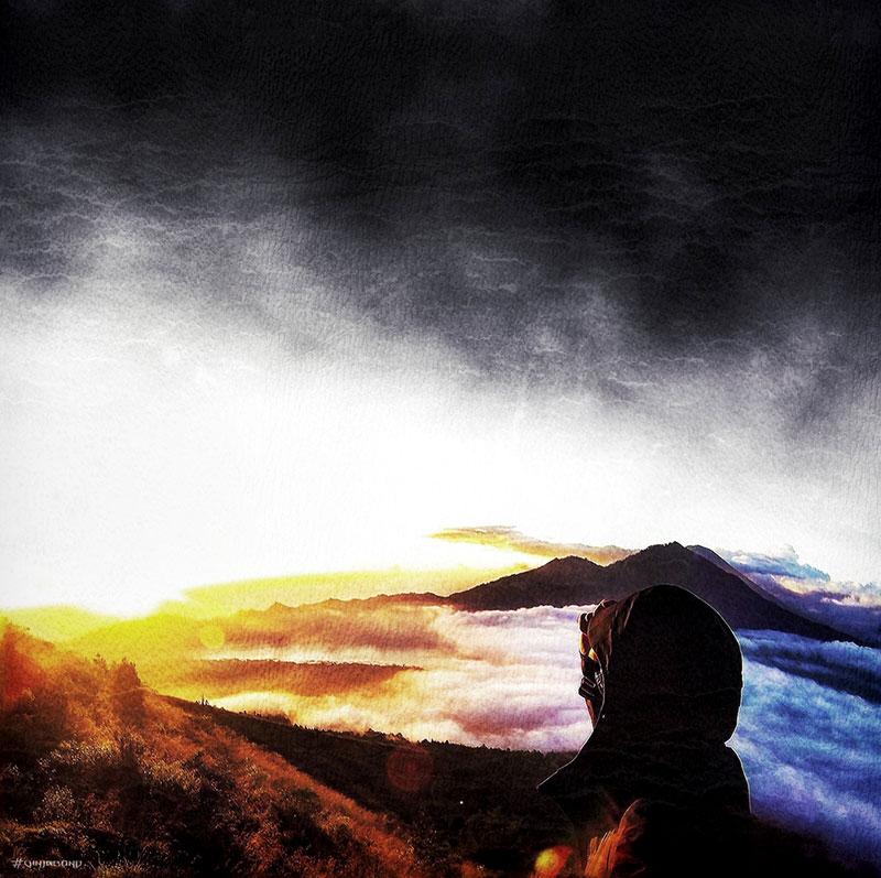 Mount Batur Volcano, Bali, Indonesia /// VINJABOND