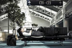 Sleeping at an Airport /// VINJABOND