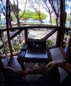 Biru Meno Bungalows Hotel in Gili Meno Island, Indonesia /// Vinjatek