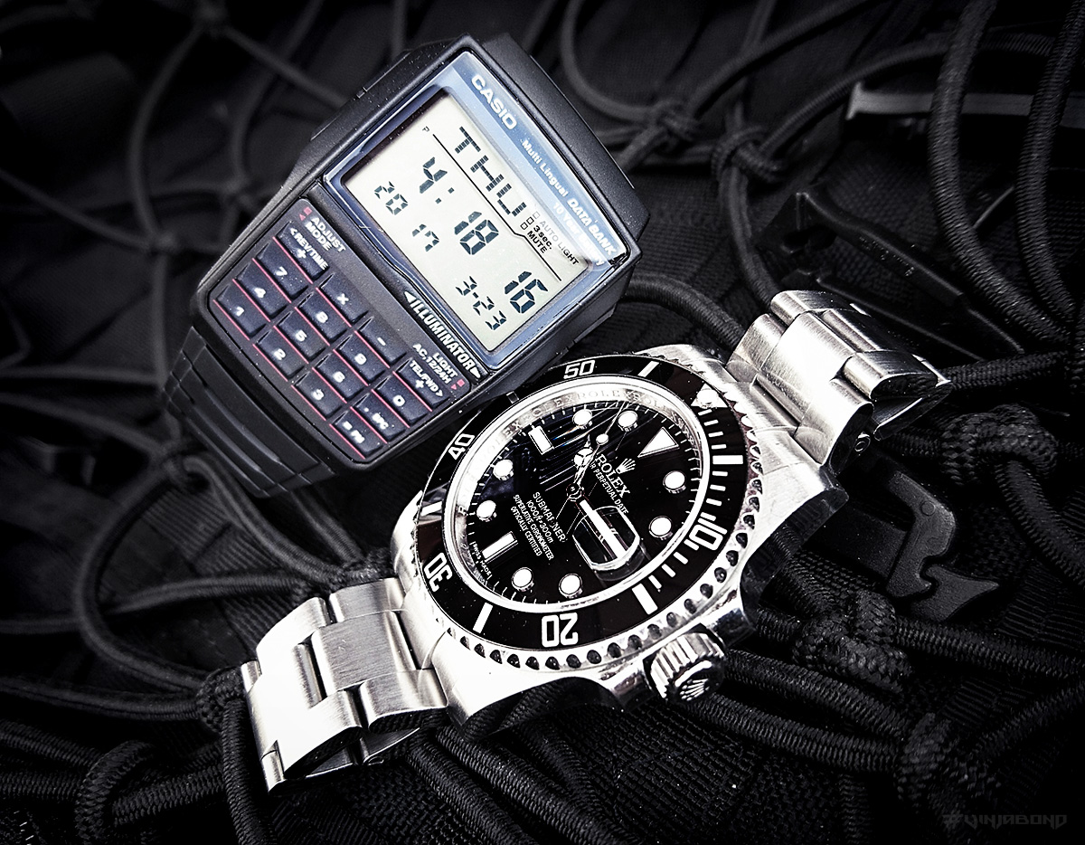Rolex Submariner VS Casio Data Bank /// VINJABOND