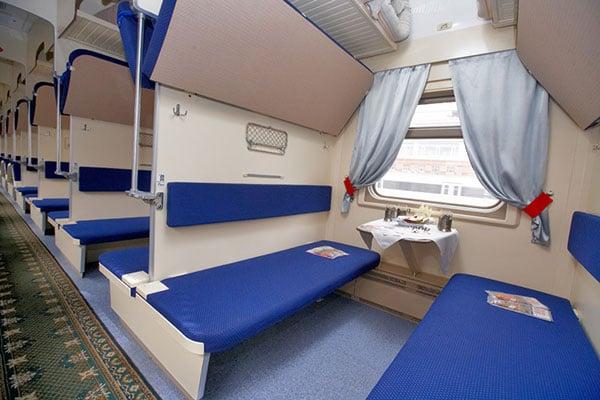 Trans-Siberian Railway Third Class Seats /// VINJABOND