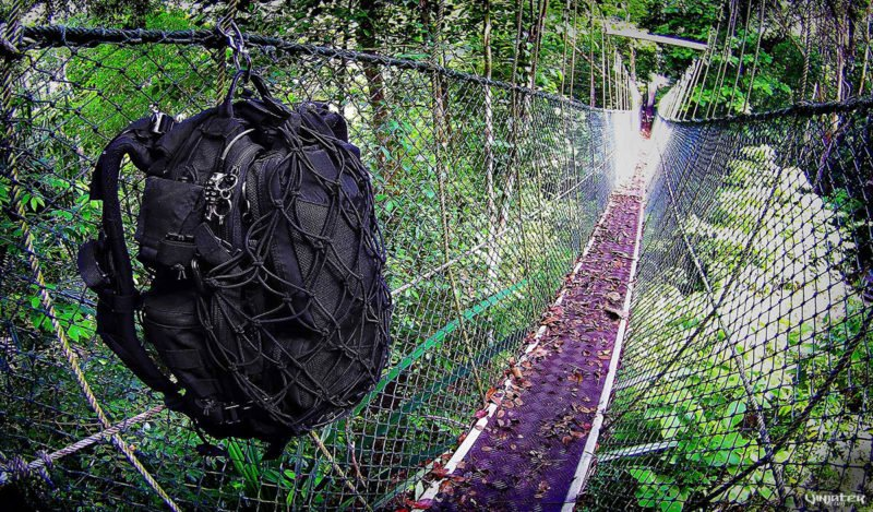 The Effect of Equipping a Tactical Backpack Around The World: Penang Jungle in Malaysia /// Vinjatek