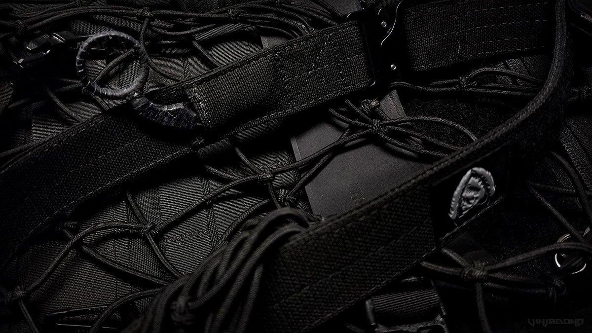 Black Scout Survival Concealment Belt w/ Karambite Knife ///