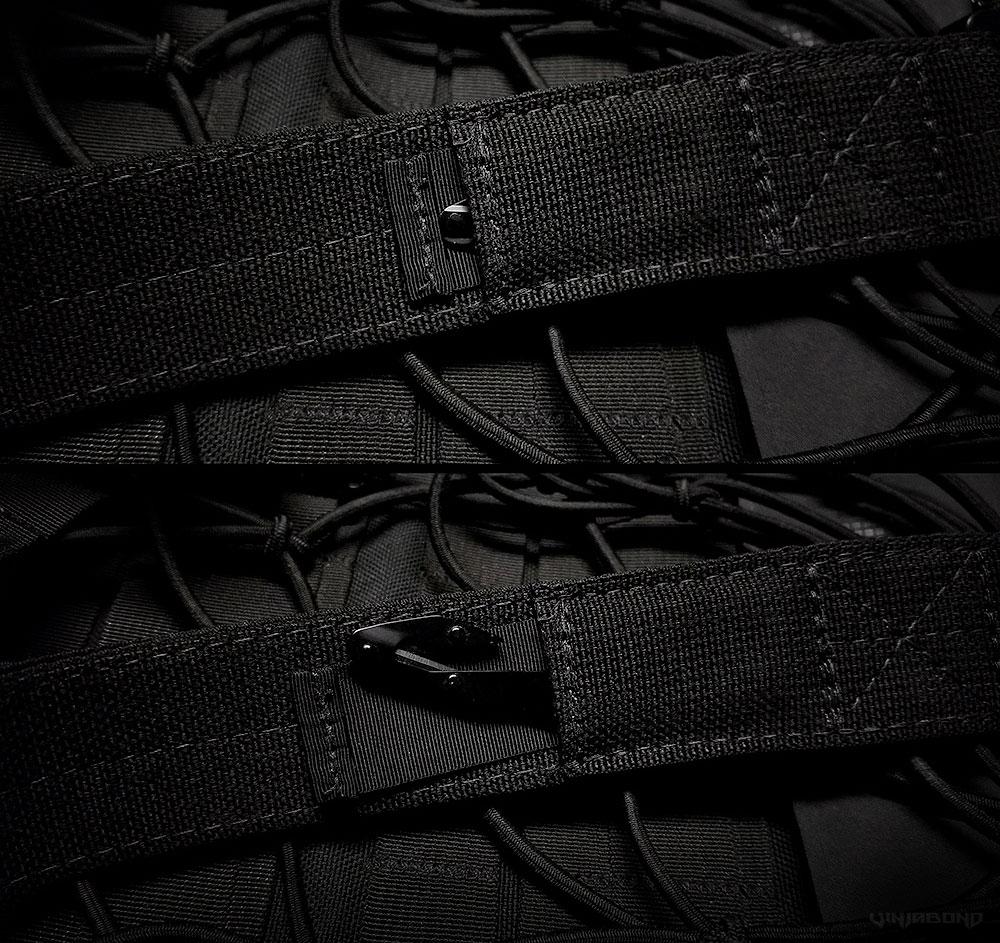 Black Scout Concealment Belt Pocket System ///