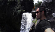 Wearing the Vollebak Condition Black Ceramic T-Shirt at a Waterfall in Bali, Indonesia /// Vinjatek