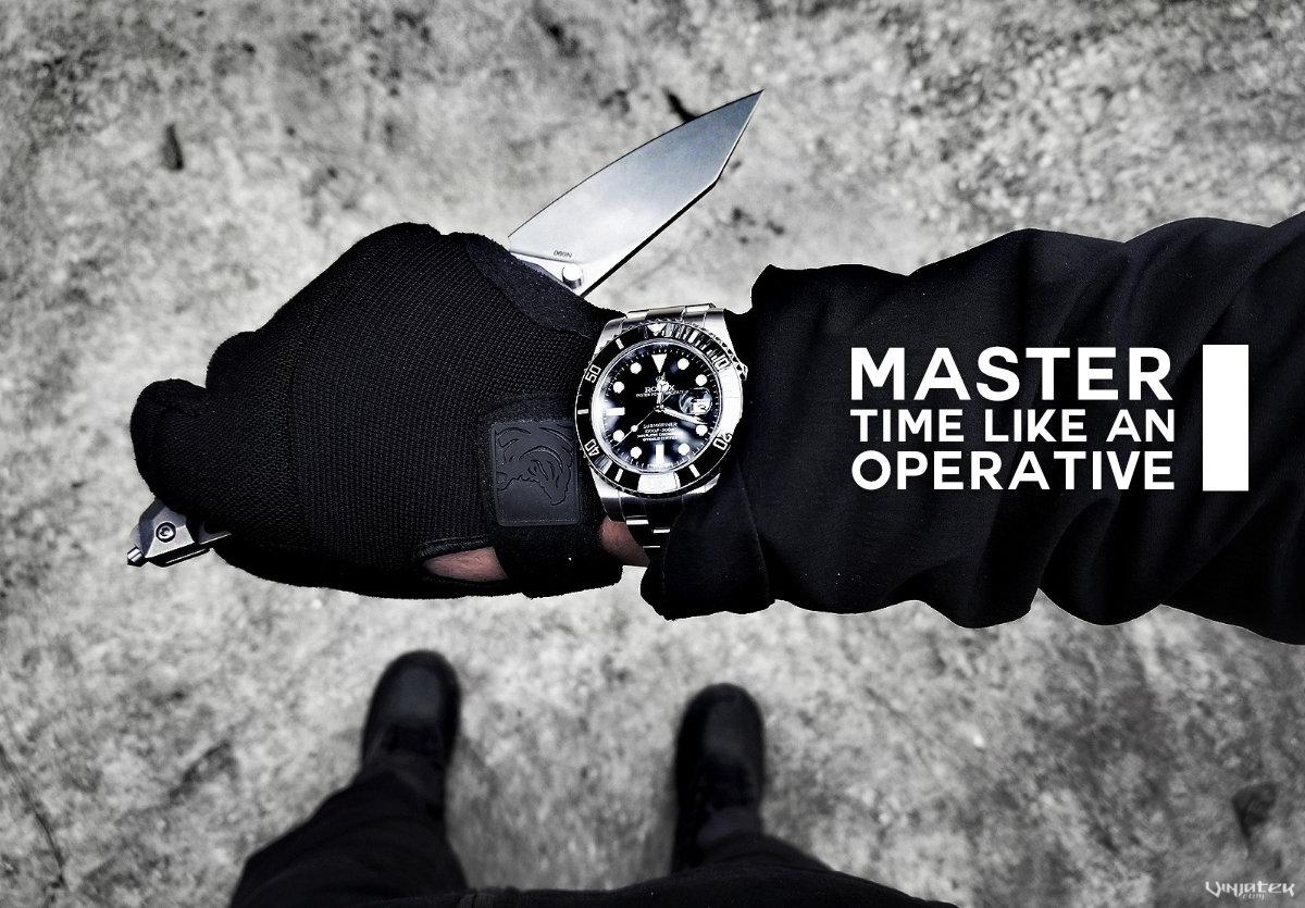 Master Time Like an Operative /// Vinjatek Poster