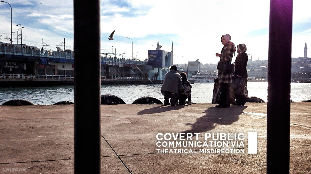 Covert Public Communication via Theatrical Misdirection /// Vinjatek Poster