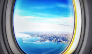 My 429th flight: Viewing the famed Chicago skyline from my airplane seat while arriving at O'Hare Airport /// Vinjatek