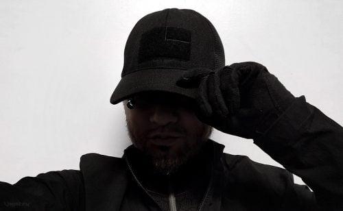 Goruck TAC Hat + Simple Windbreaker and Vollebak Condition Black Baselayer worn by Vinjatek ///