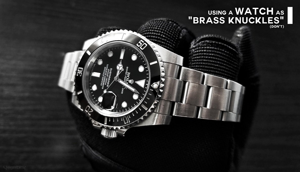 """Using a Watch as """"Brass Knuckles"""" /// Vinjatek Poster"""
