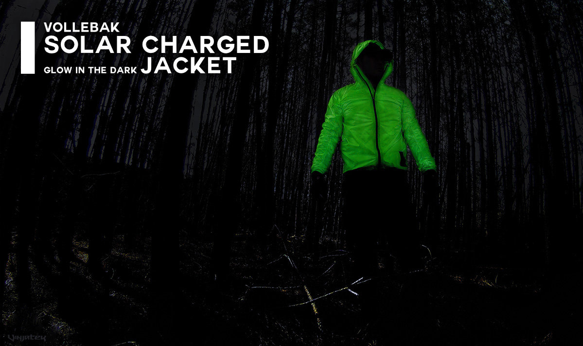 Vollebak Solar Charged Glow in The Dark Jacket /// Vinjatek Poster