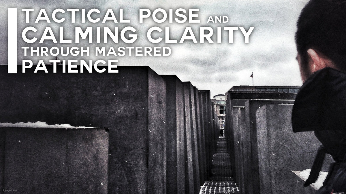 Tactical Poise and Calming Clarity Through Mastered Patience /// Vinjatek Poster