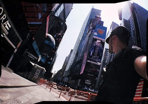 Vagabonding Covert Operative at TImes Square, New York City /// Vinjatek
