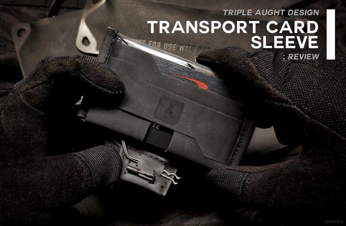 Triple Aught Design Transport Card Sleeve Wallet /// Vinjatek