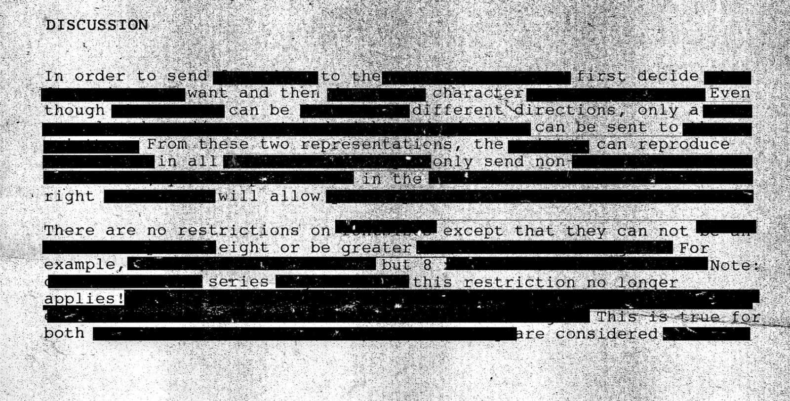 Redacted Secret Document /// Vinjatek