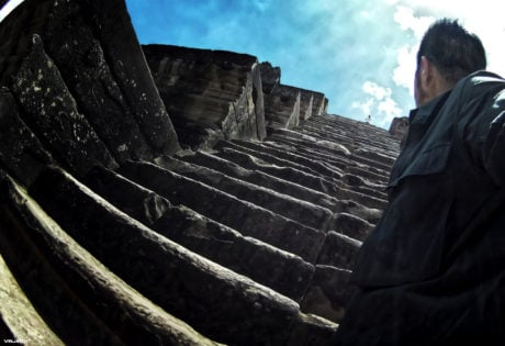 Stairs at Angkor Wat in Siem Reap, Cambodia /// Vinjatek