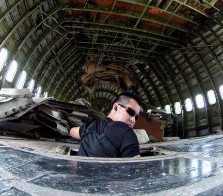Airplane Graveyard Fuselage in Bangkok, Thailand /// Vinjatek
