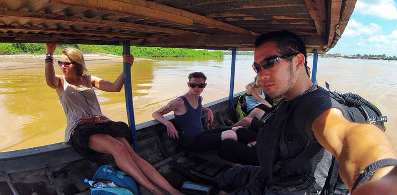 Boat Ferry to Don Det, Laos /// Vinjatek