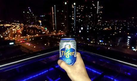 Tiger Beer on top of Ho Chi Minh City, Vietnam /// Vinjatek