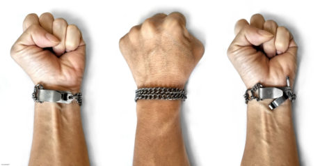 Covert SERE Escape Survival Bracelet Titanium /// Vinjatek